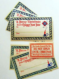 Wells Fargo & Co Express Christmas Address Labels.