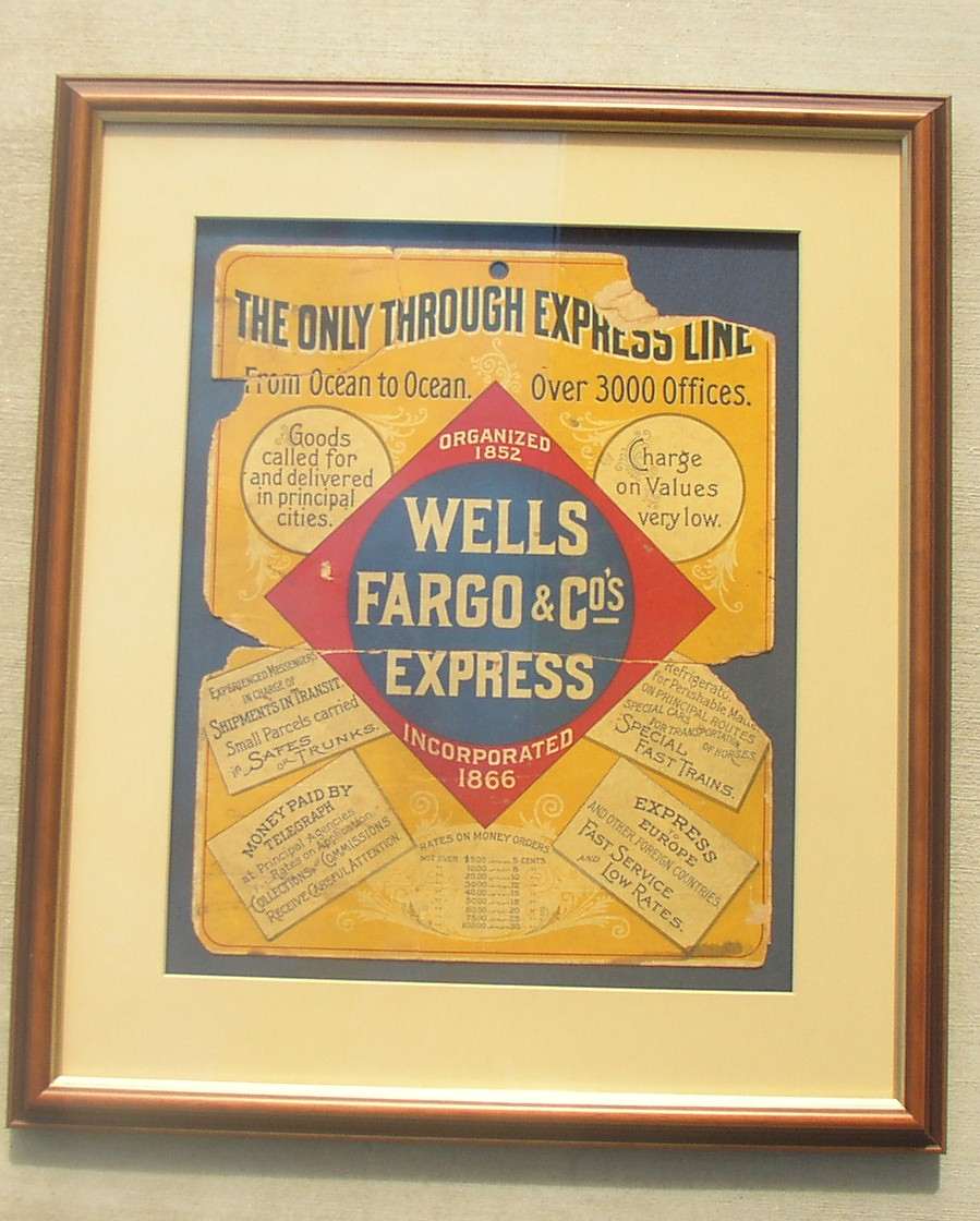 Wells Fargo & Co's Ex Ocean to Ocean Poster, c1888