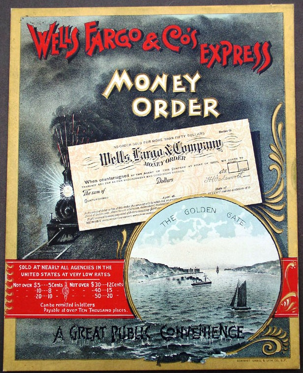 Wells Fargo & Co's Ex Golden Gate Poster, c1892