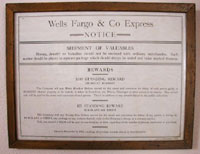 Wells Fargo & Co. Express Standing Reward Poster