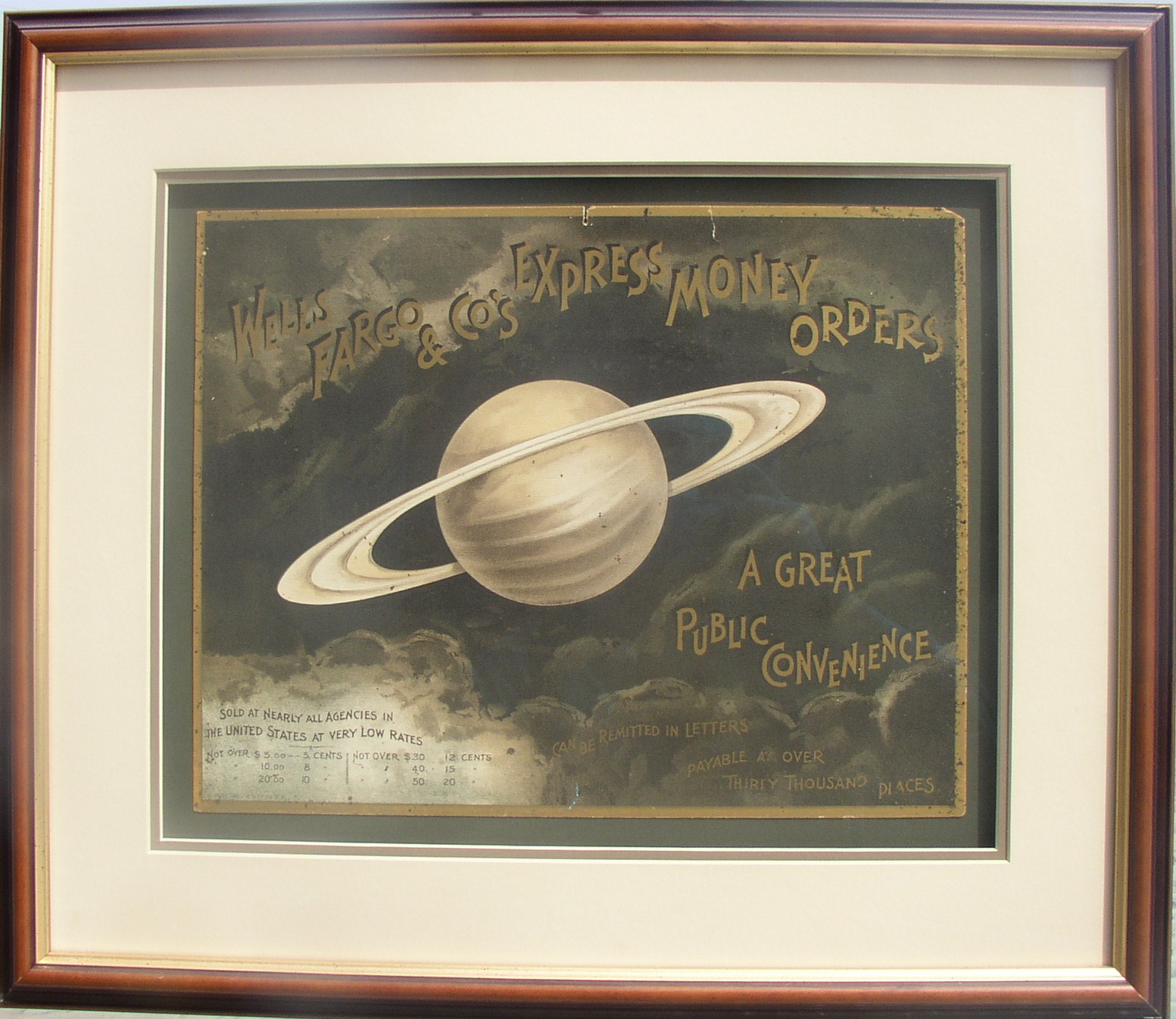 Wells Fargo & Co.'s Saturn Money Order Poster