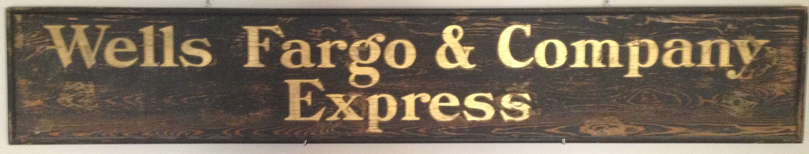 Old West Museum Wells Fargo Wiring Instructions For Cos Express Wood Office Sign