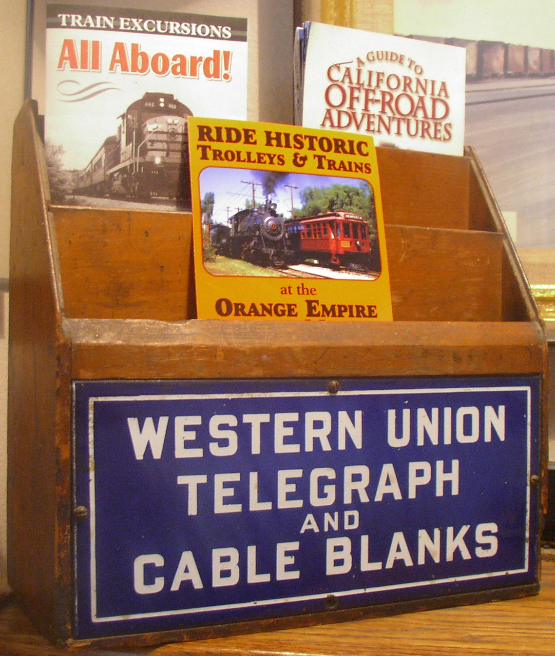 Western Union Telegraph Forms Box