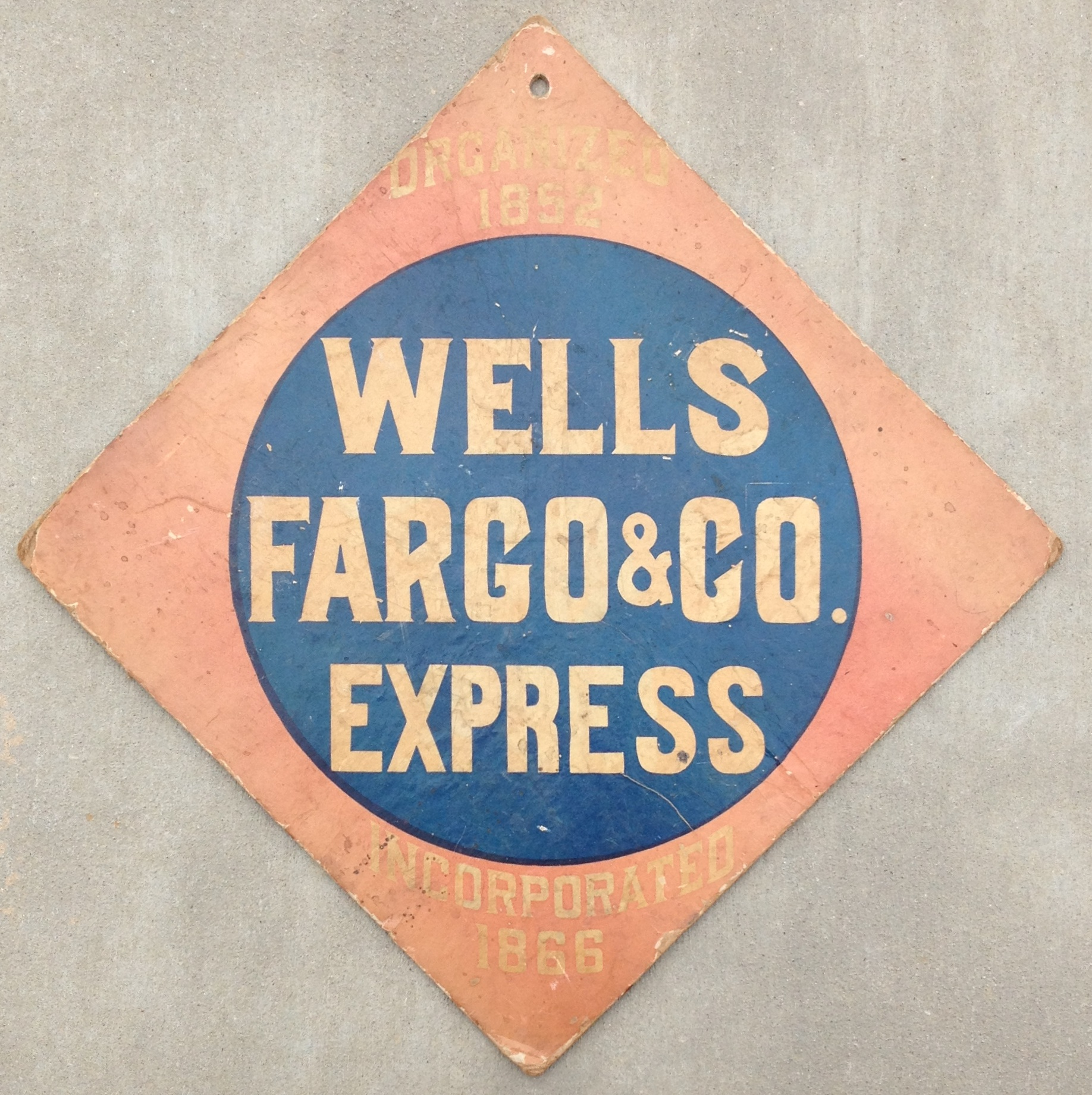 Wells Fargo & Co Express 1898 Call Card