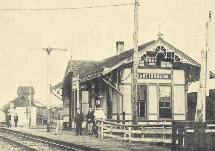 Old Western Missouri Railroad Depot at Martinsburg